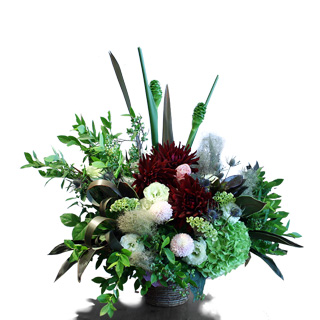 Bordeaux/Green Arrangement