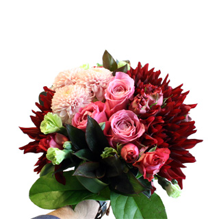 Bordeaux/Pink Bouquet